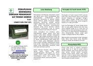 PUTS - Balai Penelitian Tanah - Departemen Pertanian