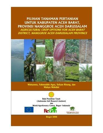 booklet aceh barat.pdf - Balai Penelitian Tanah