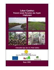 Lahan Gambut: - Balai Penelitian Tanah - Departemen Pertanian