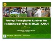 Strategi Peningkatan Kualitas dan Pemeliharaan Website Balittanah