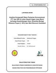 Analisis Komperatif Sistem Pertanian Konvensional, PTT dan SRI