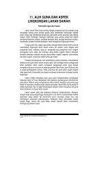 11. alih guna dan aspek lingkungan lahan sawah - Balai Penelitian ...