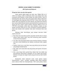 GENESIS LAHAN GAMBUT DI INDONESIA - Balai Penelitian Tanah