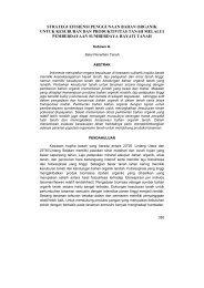 strategi efisiensi penggunaan bahan organik untuk kesuburan dan ...