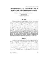 land use change and flood mitigation in citarum - Balai Penelitian ...