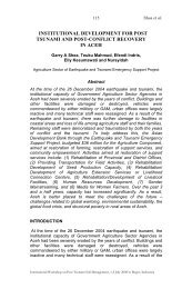 institutional development for post tsunami and post-conflict recovery ...