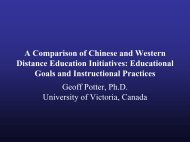 Distance Education in China - Centre for Instructional Technology