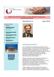 noch bis 31.01.2012 Newsletter Nr. 6 Januar 2012