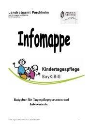 Infomappe für Tagesmütter - Landkreis Forchheim