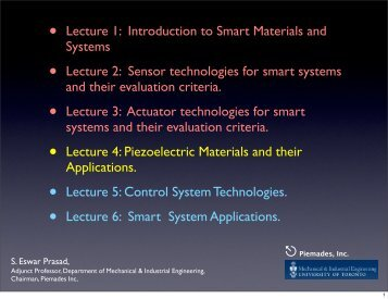 2012 METU Lecture 4 Piezoelectric Materials and their applications