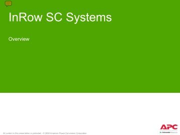 Inrow SC Systems - Apc