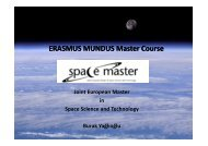 ERASMUS MUNDUS Master Course - Department of Aerospace ...