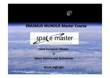 ERASMUS MUNDUS Master Course - Department of Aerospace ...