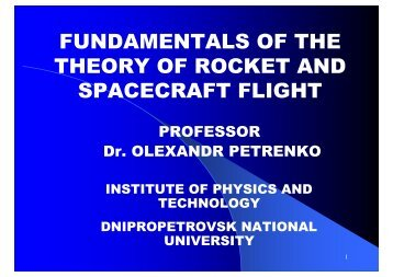 basic aspects of the theory of jet propulsion - Department of ...
