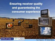 Ensuring receiver quality and guaranteeing the consumer experience