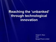 """unbanked"" through technological innovation"