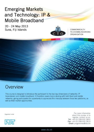 Emerging Markets and Technology IP & Mobile Broadband