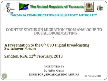 Country status on migration from analogue to digital broadcasting