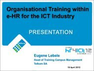 Organisational Training within e-HR for the ICT Industry