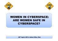 WOMEN IN CYBERSPACE: ARE WOMEN SAFE IN CYBERSPACE?