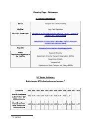 Download detailed ICT data for Botswana - Commonwealth ...