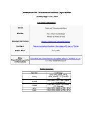 Sri Lanka - Commonwealth Telecommunications Organisation