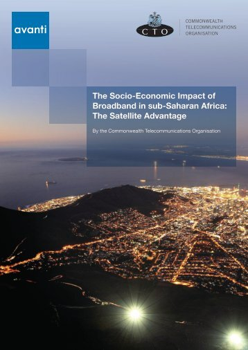 The Socio-Economic Impact of Broadband in sub-Saharan Africa ...