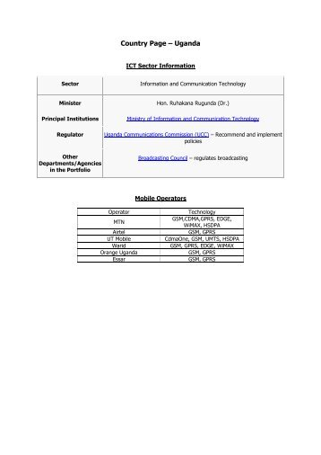 Download detailed ICT data for Uganda