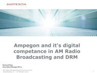Ampegon and its digital competence in AM Radio Broadcasting and ...
