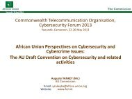 The AU Draft Convention on Cybersecurity and related activities
