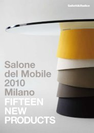 FIFTEEN NEW PRODUCTS Salone del Mobile 2010 Milano