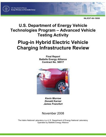 Plug-in Hybrid Electric Vehicle Charging Infrastructure Review Final ...