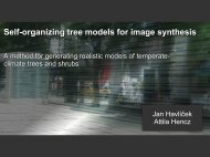 Self-organizing tree models for image synthesis
