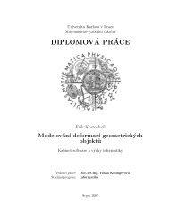Modelling of Deformations of Geometric Objects - Univerzita Karlova