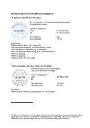 Sonderstempel zu den Briefmarkenausgaben - Pin-mail-online.de