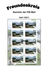 Sammler der PIN Mail Nr. 1/2011 - Pin-mail-online.de