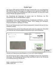 Prelabel für Firmenkunden - Pin-mail-online.de