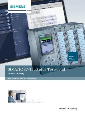 SIMATIC S7-1500 plus TIA Portal - Siemens