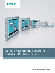 SIMATIC HMI Basic Panels - Siemens