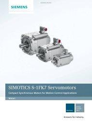 SIMOTICS S-1FK7 Servomotors - Siemens