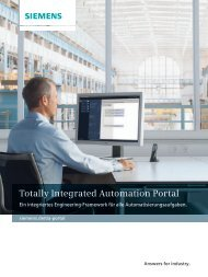 Totally Integrated Automation Portal Ein integriertes ... - Siemens