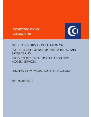 Sep-10 NBN Co Product Overviews for Fibre - Communications ...
