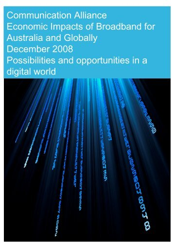 Economic Impacts of Broadband for Australia and Globally (389KB)