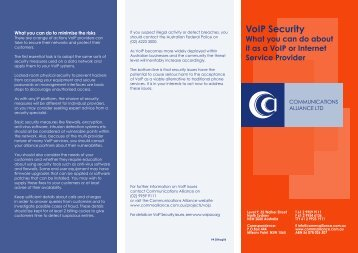VoIP Security - Communications Alliance