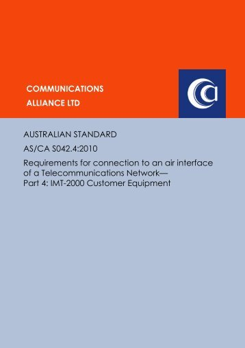 AS/CA S042.4:2010 - Communications Alliance