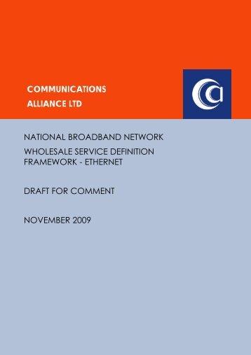 NBN Wholesale Service Definition Framework – Ethernet