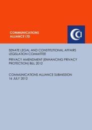 Jul 2012 Senate Inquiry – Privacy Amendment Bill