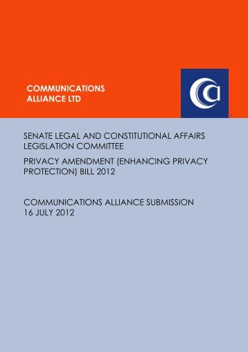 Jul 2012 Senate Inquiry – Privacy Amendment Bill