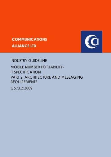 G573.2:2009 - Communications Alliance
