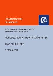 broadband network reference architecture - Communications Alliance
